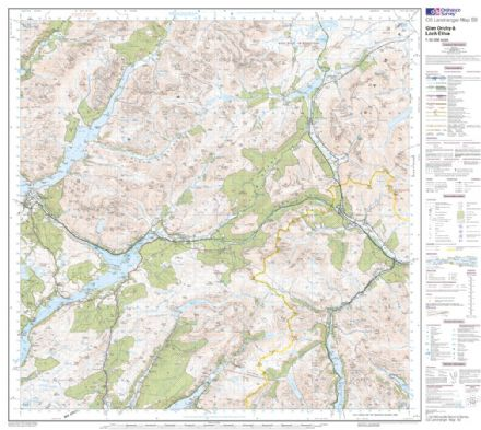 OS Landranger 050 - Glen Orchy & Loch Etive - FLAT Rolled in a Tube